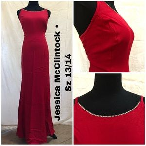Jessica McClintock Ruby Red Evening Gown - 14